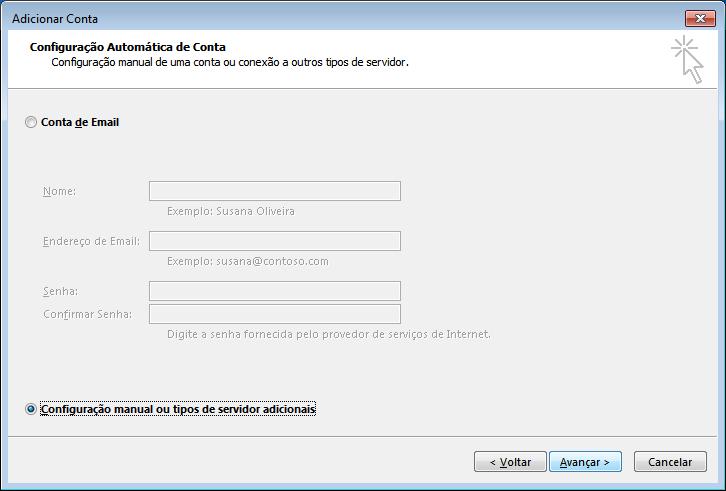 Configuração email Outlook 2013 - 2 ecrã